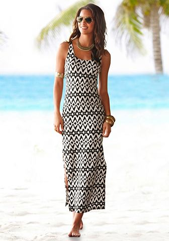 Платье-макси длинное с боковой разрез