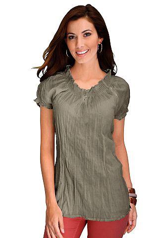 Блузка-рубашка в pflegeleichter Crash-...