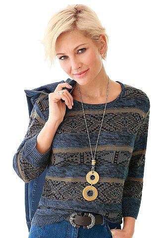 Пуловер с attraktivem Strickmuster вок...