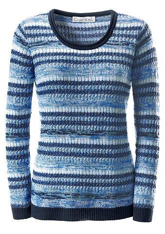 Пуловер с круглым вырезом с verpieltem...