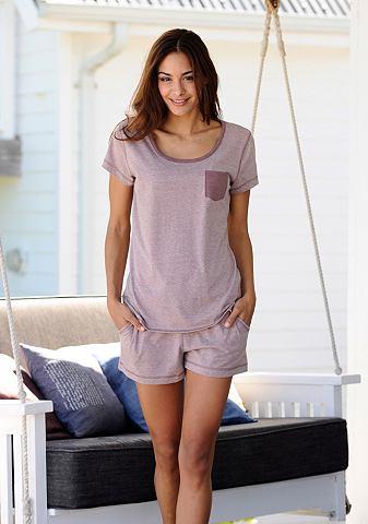Melierter пижама с футболка & карм...