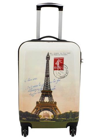 ? Пластиковый чемодан на колесах с 4 к...