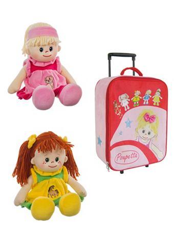 Комплект: 2 Puppen u. детские чемодан ...