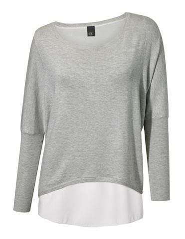 Пуловер с круглым вырезом в асимметрич...