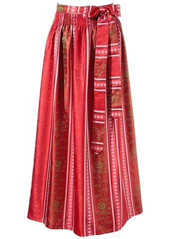 Широкая юбка в сборку полосатая