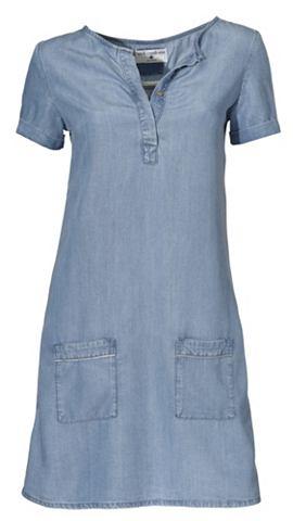 Платье джинсовое с футболка
