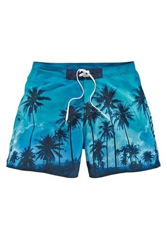 BENCH. Шорты для купания с модный пальмовый у...