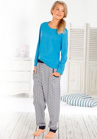 Langer пижама с kontrastfarbenen B
