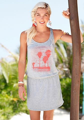 Платье пляжное с узор спереди