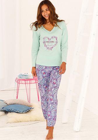Пижама с пестрый & passendem узор ...
