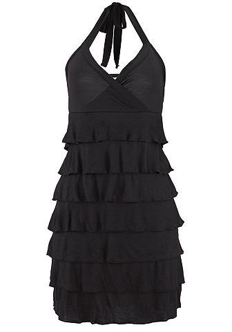 Короткое платье с завязкой через шею