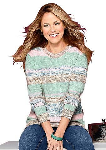 Пуловер с geripptem круглым вырезом