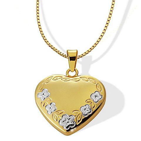 Ожерелье Herz с цветы 375/- Gelbgold
