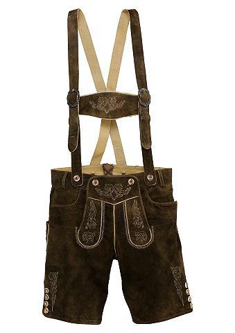MARJO Брюки кожаные с традиционный окантовка...