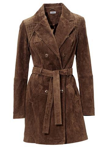 Пальто кожаное велюр с Steppungen
