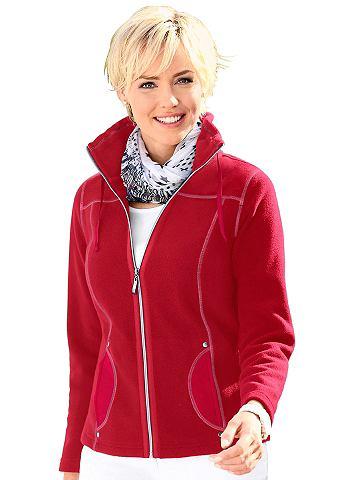 Флисовая куртка с kontrastfarbenen отс...