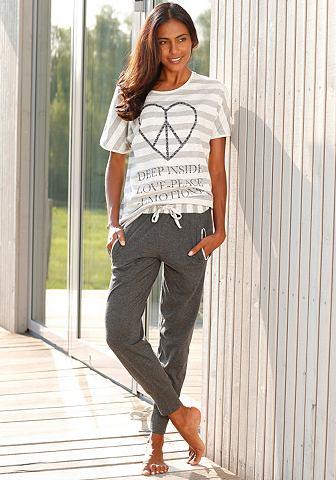 Пижама с полосатая футболка & узки...