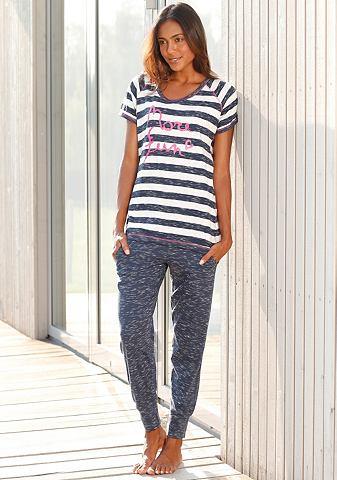 Melierter пижама с узкий пошив брюки