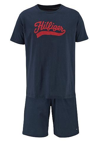 Пижама с rotem Logoschriftzug
