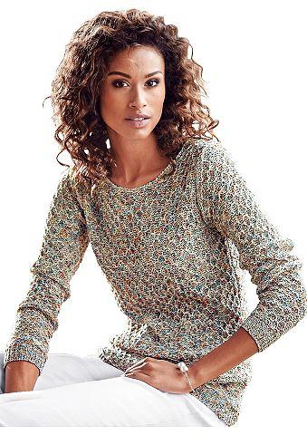 Пуловер с широкий круглым вырезом
