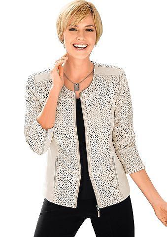 Пиджак с вставки из дермантина