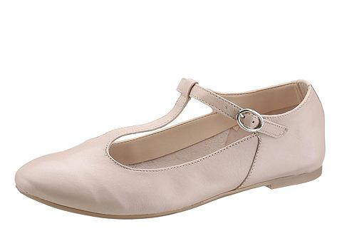 Балерины на ремешке с пряжкой