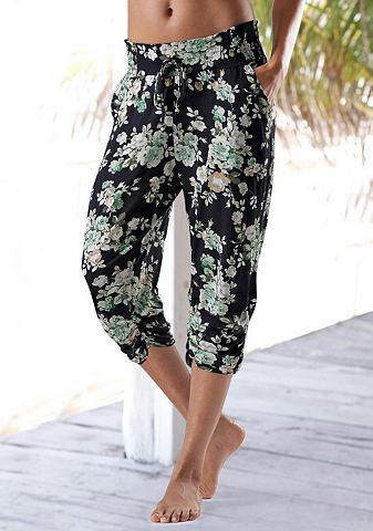 Пляжный брюки-капри с цветочный узор