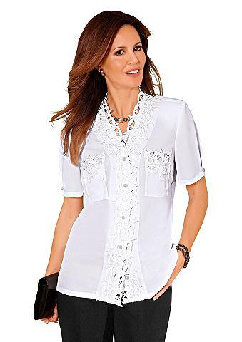 Блуза с Schmuckknöpfe с блестящие...