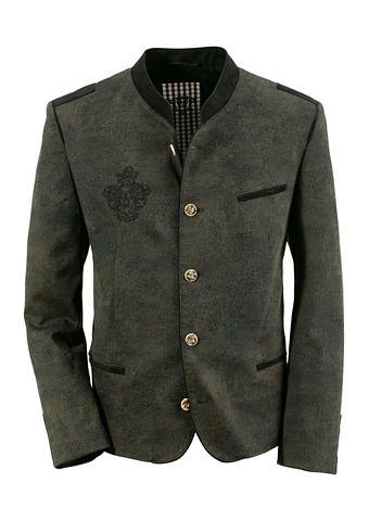 Пиджак в национальном стиле с окантовк...