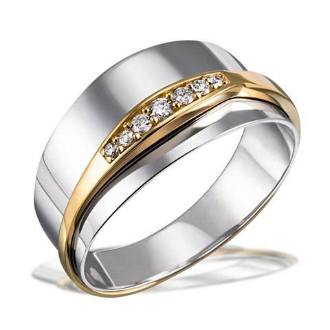 Кольцо 925/- Sterlingsilber с 585/- Ge...