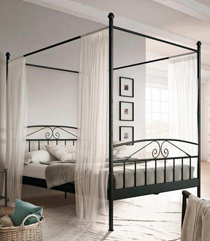 Металлическая кровать с балдахином &ra...