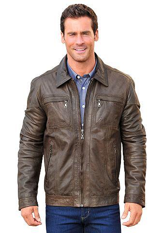 MAINPOL Marco Donati куртка кожаная с gestreif...