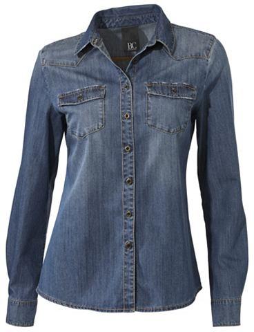 Джинсовая блузка расклешенный