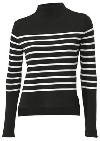 Пуловер с воротником-стойкой с Streife...