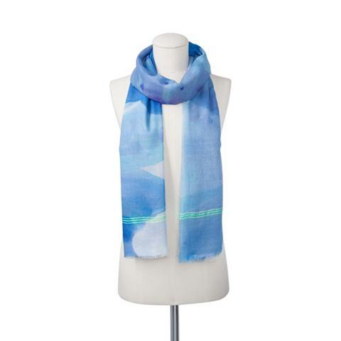 Farbiger шарф с неоновая полоска