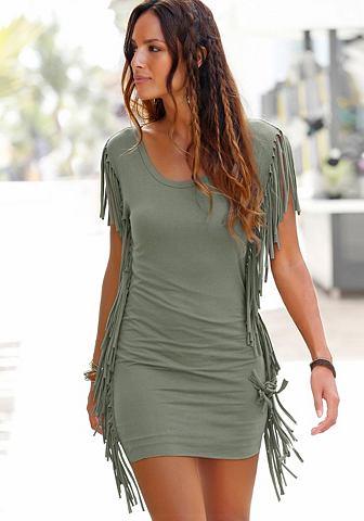 Платье пляжное с бахрома