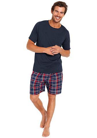 Bodywear пижама короткая с брюки в кле...