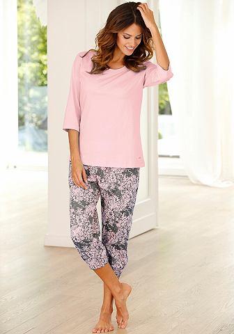 Пижама капри с gemusterter брюки