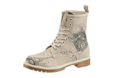 Ботинки со шнуровкой с dezenten узор