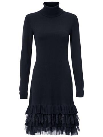 Платье трикотажное с кружева