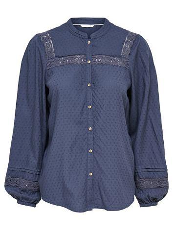 Мелкой вязки рубашка с длинными рукава...