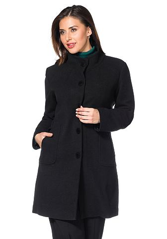 Пальто короткое с воротник стойка