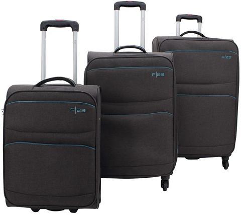 ? Текстильный чемодан на колесиках ком...