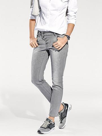 Узкие джинсы с Destroyed Effekt
