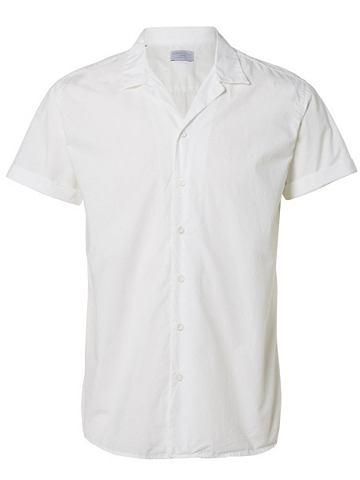 Прямого силуэтa рубашка с короткими ру...