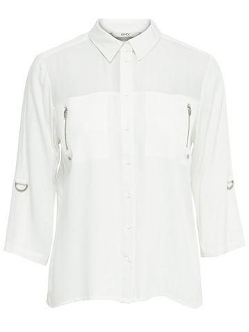 Одноцветный рубашка с длинными рукавам...