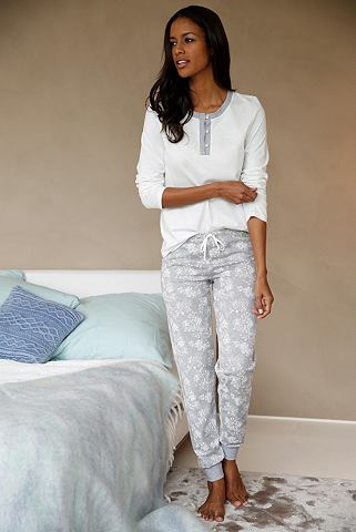 Пижама с пуговицы и gemusterter брюки