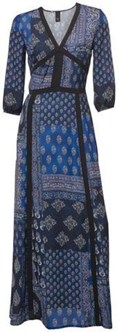 Платье с сочетание узоров