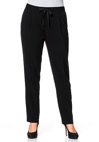 Узкий брюки стрейч с складка