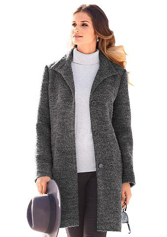Пальто с воротник стойка